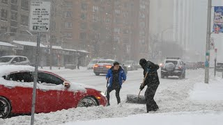 Winter Snow Storm in Toronto Canada