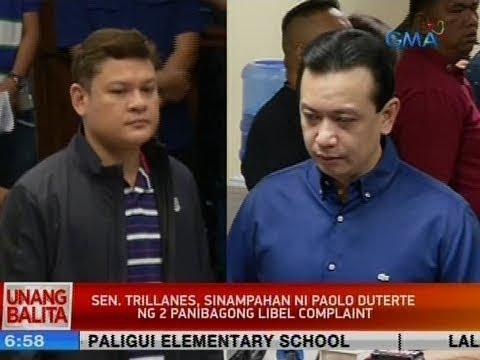 [GMA]  UB: Sen. Trillanes, sinampahan ni Paolo Duterte ng 2 panibagong libel complaint