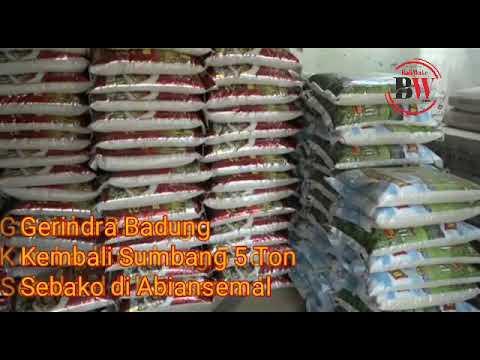 Gerindra Badung Sumbang 5 Ton Sembako di Abiansemal