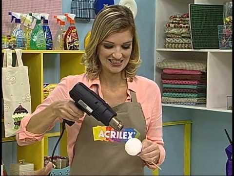 Enfeite de cupcake / Programa Ateliê na TV
