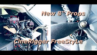 """BMPCC 4K on CineRigger FreestyLe (feat. New Gemfan 8"""" prop) / Russell FPV FreeStyLe"""