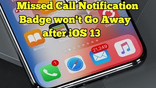 Fixed - Missed Call/Voice Mail Notification Badge icon won't Go Away on iPhone iOS 13/13.2