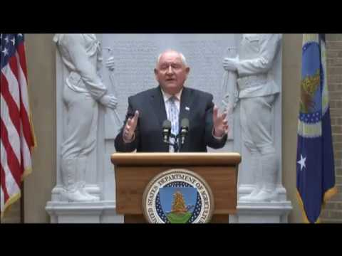 Sonny Purdue Gives First Remarks As Secretary of Agriculture