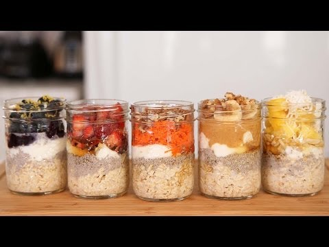 Video Overnight Oatmeal - 5 Delicious Ways!
