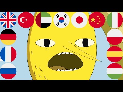 Lemongrab in 13 Languages