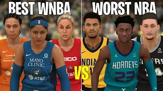 Can The 5 BEST WNBA Players Beat The 5 WORST NBA Players? | NBA 2K20
