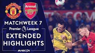Manchester United v. Arsenal   PREMIER LEAGUE HIGHLIGHTS   9/30/19   NBC Sports