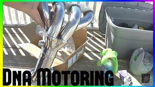 2001-2005 Honda Civic 1.7 DNA Motoring Header Installed