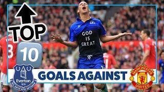 LATE STRIKES + SCREAMERS! | TOP 10 GOALS AGAINST MAN UNITED