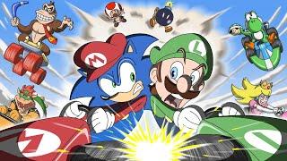 Sonic in Mario Kart Animation - GAME SHENANIGANS