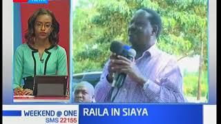 Raila Odinga addresses a gathering at Bar Opuk-Siaya County