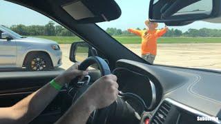 Jeep Trackhawk vs Jeep SRT Turbo - Airstrip Racing - Who Wins?!