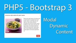 PHP5 - CSS3 - HTML5 - Bootstrap 3 Modal Dynamic Content - Easy To Learn - Learn Quickly