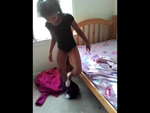 Little mama omg loves gymnastics