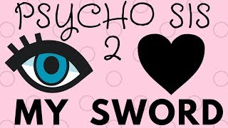 I LOVE MY SWORD  LYRICS! - Psycho Sis VS Five Nights at Freddy's - Minecraft Song
