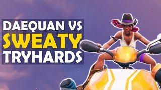 QUADCRASHER IS OP | DAEQUAN VS SWEATY TRYHARDS | HIGH KILL FUNNY GAME - (Fortnite Battle Royale)