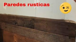 Como decorar paredes con tablas de estibas