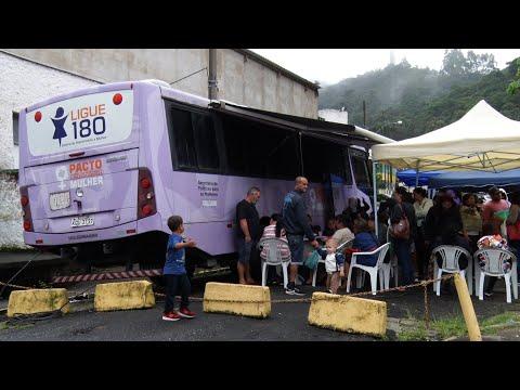 Ônibus Lilás atende mais de 300 mulheres em Teresópolis; saiba o próximo destino