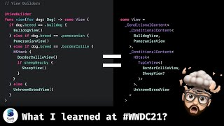 What I learned at #WWDC21 watching