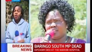 Baringo South MP Grace Kipchoim has passed on at the Nairobi Hospital.
