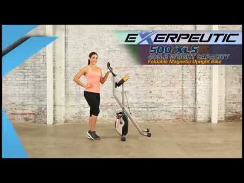 4100 - Exerpeutic 500 XLS Foldable Magnetic Upright Bike
