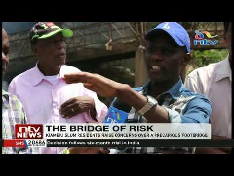 Kiambiu slum residents raise concerns over precarious footbridge