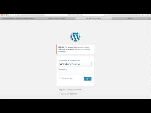 Quickly Change/hide WordPress Admin, Login, And Registration Page Urls Mp3