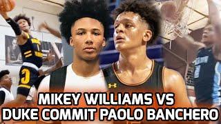Mikey Williams & San Ysidro Get Tested Against DUKE & KENTUCKY DUO! Paolo Banchero & Nolan Hickman 🔥