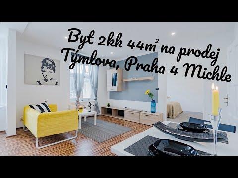 Prodej bytu 2+kk 44 m2 Týmlova, Praha Michle