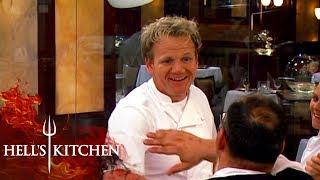 Gordon Ramsay High Fives Chefs Over A Great Service   Hell's Kitchen