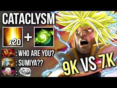 Who is This? Same Style Like SumiYa Invoker Cataclysm x20 SunStrike Insane Game 7k vs 9k Dota 2