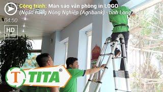 Màn Rèm Văn Phòng Motor Tự Động in logo tranh Ngân hàng Agrigank NNPTNT - Cty Tín Tâm