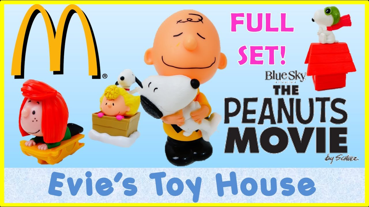 The Peanuts Movie McDonalds Happy Meal Full Set | Evies Toy House