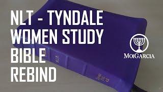 NLT Tyndale Women Study Bible Rebind in Purple Goatskin