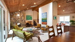 🔝 Midcentury Modern Living Rooms | Famous Small Spaces Tiny Interior Design Decor Ideas Tour 2018
