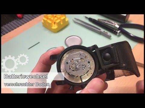 Batteriewechsel einer Armbanduhr (Fossil JR1223) Verschraubter Boden - elitshop.ch
