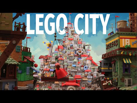 The Painted City Made of LEGO