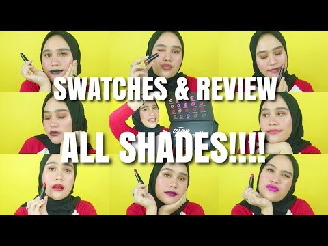 [SWATCH & REVIEW] The Body Shop The Colour Crush Lipstick ALL SHADES!