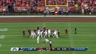 Greg Zuerlein nails 37 yard field goal Rams Vs Browns