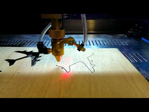 First cuts with 50W Chinese laser cutter