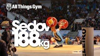 preview picture of video 'Vladimir Sedov (KAZ, 94k) 188kg Snatch 2014 Almaty Worlds'