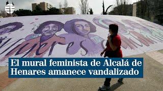 El mural feminista de Alcalá de Henares amanece vandalizado 24 horas antes del 8-M
