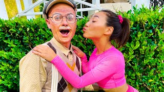 Dating a GRANDPA for 24 HOURS!!