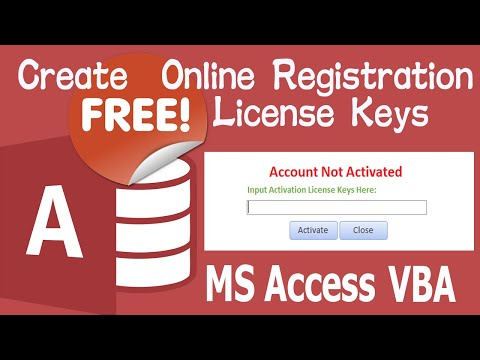 MS Access VBA: Secure Database with Online License Key for FREE. Work Files Attached.