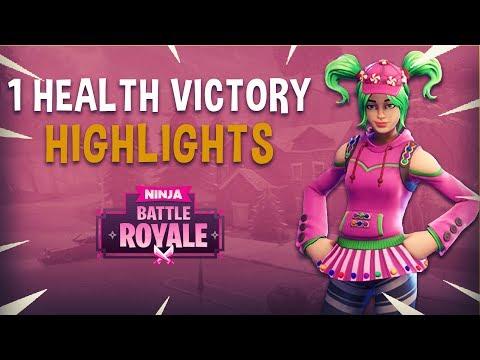 1 Health Victory! - Fortnite Battle Royale Highlights - Ninja