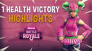 1 Health Victory!   Fortnite Battle Royale Highlights   Ninja