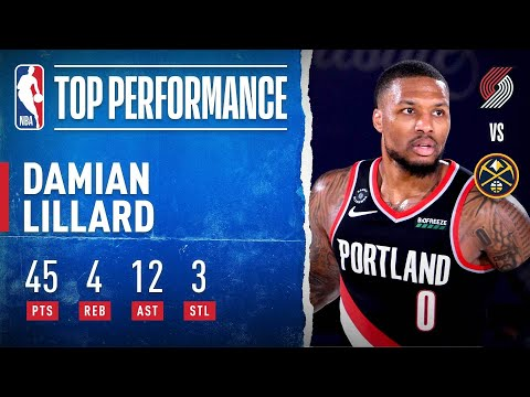 Damian Lillard Drops 45 PTS, 12 AST (11 3PT FGM) In Trail Blazers Win!