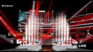 WWE Wrestlemania 31 Roman Reigns vs Brock Lesnar Entrance Stage Animation + Pyro