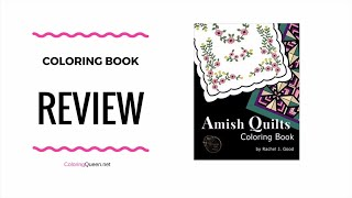 Amish Quilts  Coloring Book Review - Rachel J Good