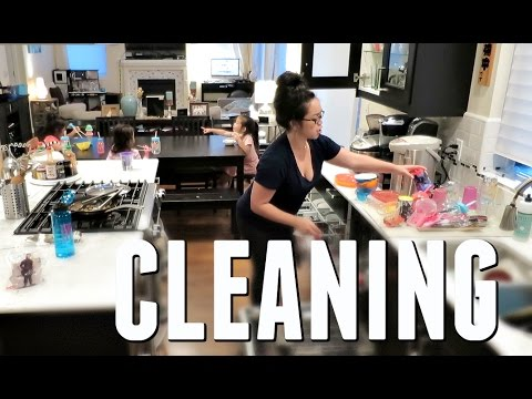 CLEANING THE KITCHEN! - May 20, 2017 -  ItsJudysLife Vlogs